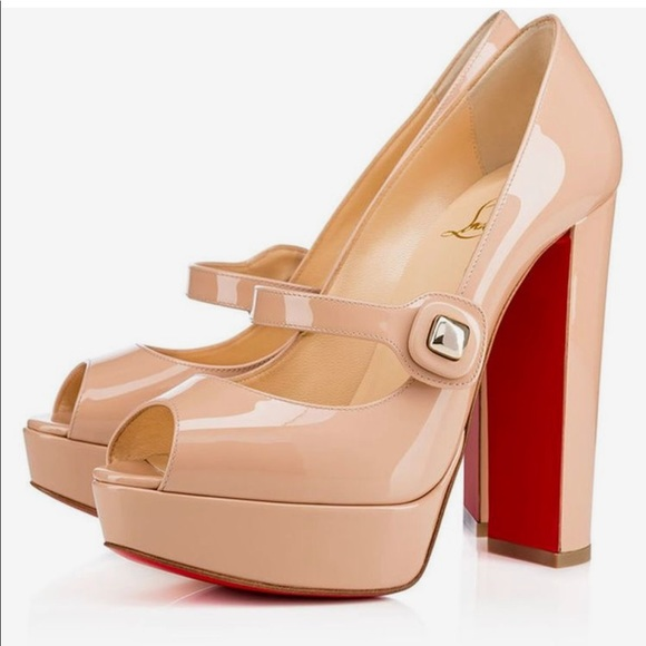 17c974565fc NEW • Christian Louboutin • Bibibop Nude Pumps